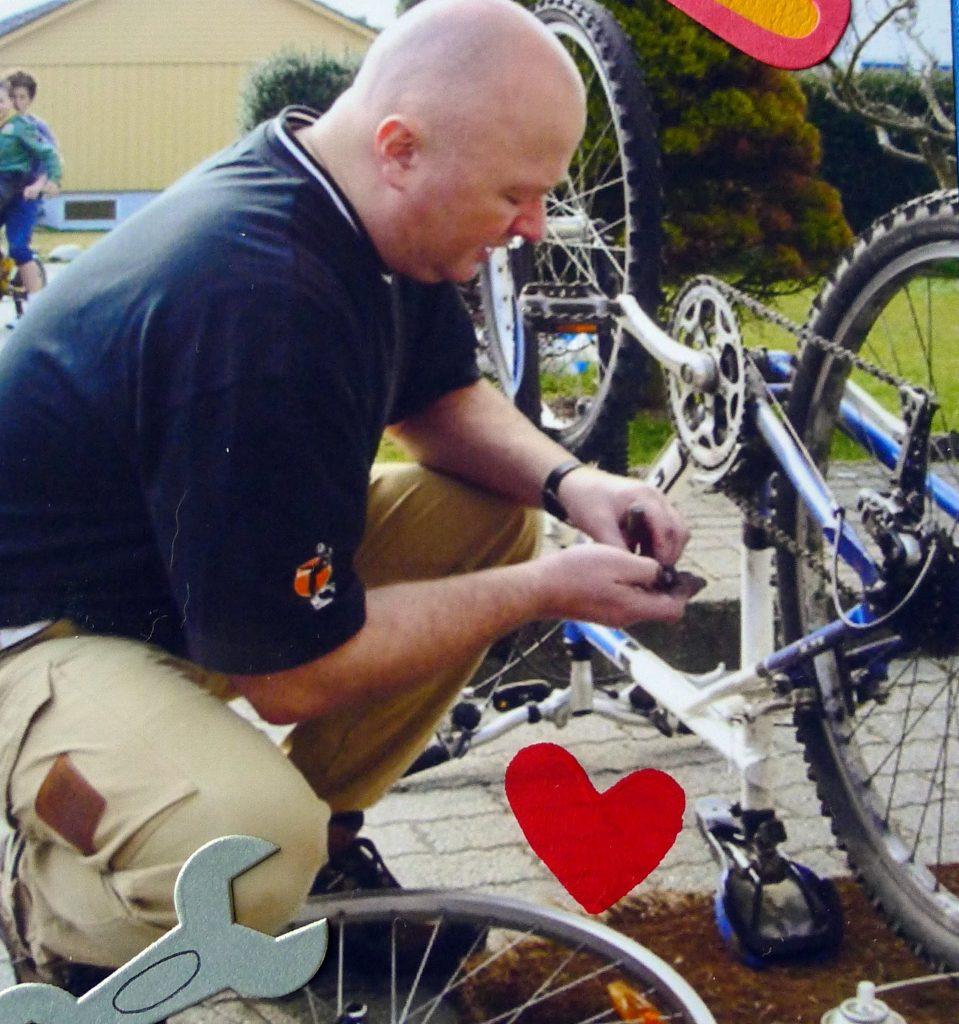 JB fixing bike