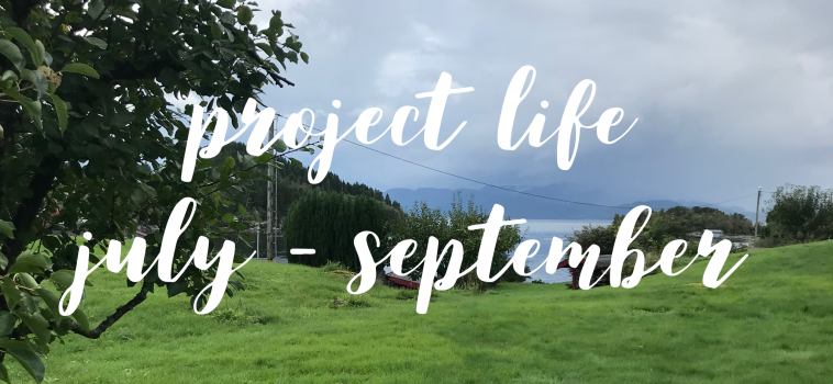 Project life 2018, third quarter
